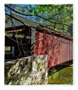 Mercers Mill Covered Bridge Fleece Blanket