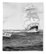 Merchant Ship, 1899 Fleece Blanket