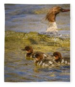 Merganser Lake Tahoe Fleece Blanket