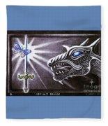 Merlin's Dragon Fleece Blanket