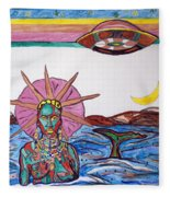 Yemoja Ufo  Fleece Blanket