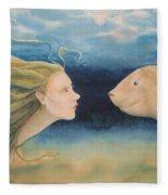 Mermaid Encounter Fleece Blanket