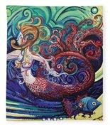 Mermaid Gargoyle Fleece Blanket