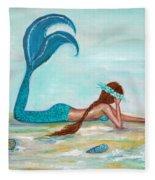 Mermaids Exist Fleece Blanket