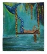 Mermaids Relaxing Morning Fleece Blanket