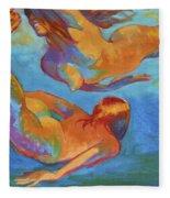 Mermaids Swimming Fleece Blanket
