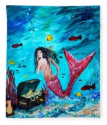 Mermaids Treasure Fleece Blanket