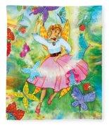 Merri Goldentree Dances Fleece Blanket