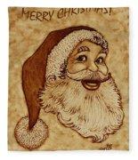 Merry Christmas 2 Fleece Blanket by Georgeta  Blanaru