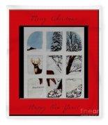Merry Christmas Deer Fleece Blanket