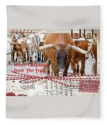 Merry Christmas From The Trail Fleece Blanket