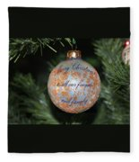 Merry Christmas Greetings Fleece Blanket