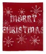 Merry Christmas Fleece Blanket by Jocelyn Friis