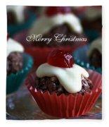 Merry Christmas - Puddings Fleece Blanket