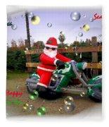 Merry Christmas  Seasons Greetings  Happy New Year Fleece Blanket