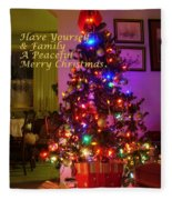 Merry Christmas Wish Fleece Blanket