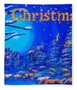 Merry Christmas Wish V2 Fleece Blanket