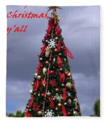 Merry Christmas Y'all Fleece Blanket