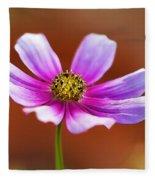 Merry Cosmos Floral Fleece Blanket
