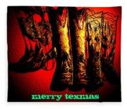 Merry Texmas Fleece Blanket