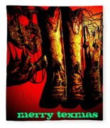 Merry Texmas Fleece Blanket