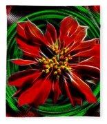 Merry Xtmas - Poinsettia Fleece Blanket