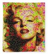 Marilyn - Colored Diamonds Fleece Blanket