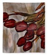 Mes Tulipes Fleece Blanket