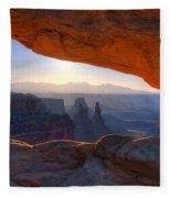 Mesa Arch Canyonlands National Park Fleece Blanket
