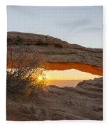 Mesa Arch Sunrise 3 - Canyonlands National Park - Moab Utah Fleece Blanket