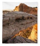 Mesa Arch Sunrise 6 - Canyonlands National Park - Moab Utah Fleece Blanket