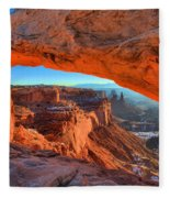 Mesa Sunrise Glow Fleece Blanket