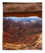 Mesa Sunrise Window Fleece Blanket