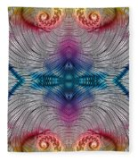 Mesmerising Rainbow Fleece Blanket