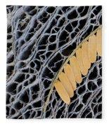 Mesquite Leaves Fleece Blanket