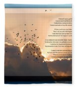 Message From Heaven Fleece Blanket