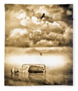 Message In A Bottle Fleece Blanket
