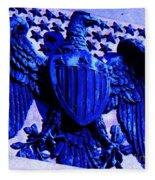 Metal American Eagle Symbol Fleece Blanket
