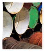 Metal Barrels 1 Fleece Blanket