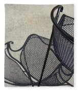 Metal Chair And Shadow 5 Fleece Blanket