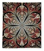 Metal Flower Fleece Blanket