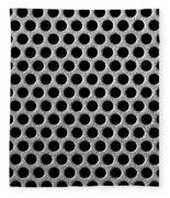 Metal Grill Dot Pattern Fleece Blanket