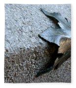 Metal Leaf Fleece Blanket