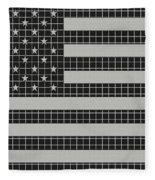 Metal Mesh Usa Flag Fleece Blanket