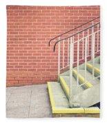 Metal Stairs Fleece Blanket