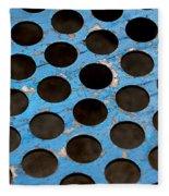 Metal Texture Round Fleece Blanket