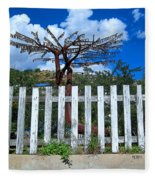 Metal Art Tree Bisbee Fleece Blanket