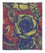 Metalic Rose Fleece Blanket