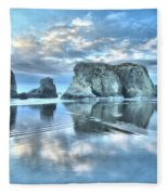 Metallic Cloud Reflections Fleece Blanket