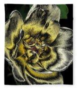 Metallic Rose Fleece Blanket